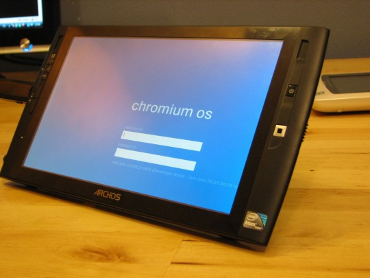 Archos 9 dumps Win7 for Google Chromium OS