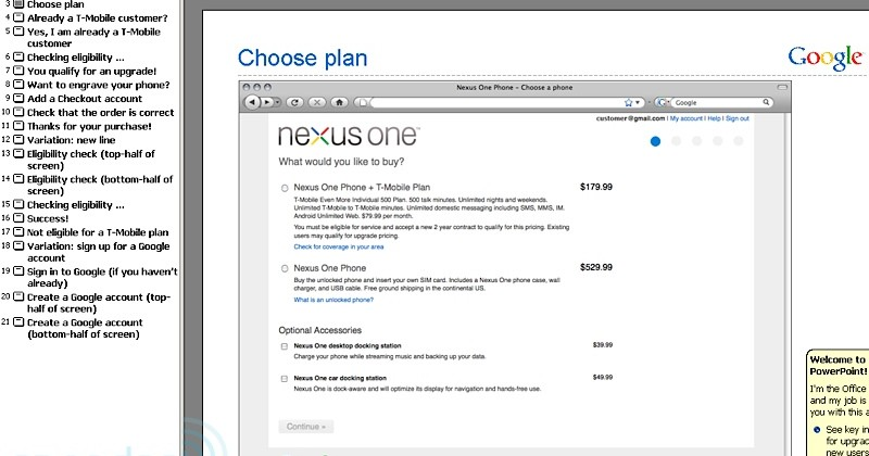 Google Nexus One $180 with contract tips leaked purchase page