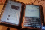 Harlequin dual-touchscreen netbook mod is DIY Courier