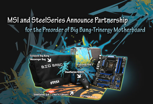 MSI announces special Big Bang-Trinergy mainboard with SteelSeries