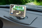 Nav-Mat II keeps your GPS in place and off the windshield