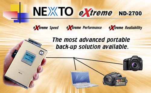 Archive photos on the go with Nexto eXtreme storage drive
