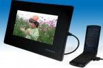 Transgear TGP-701MG digital photo frame uses your cellphone to get online
