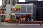 Apple splashes color on Yerba Buena center for Jan 27th media event