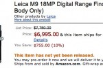 Leica M9 digital range finder gets $7k Amazon preorder