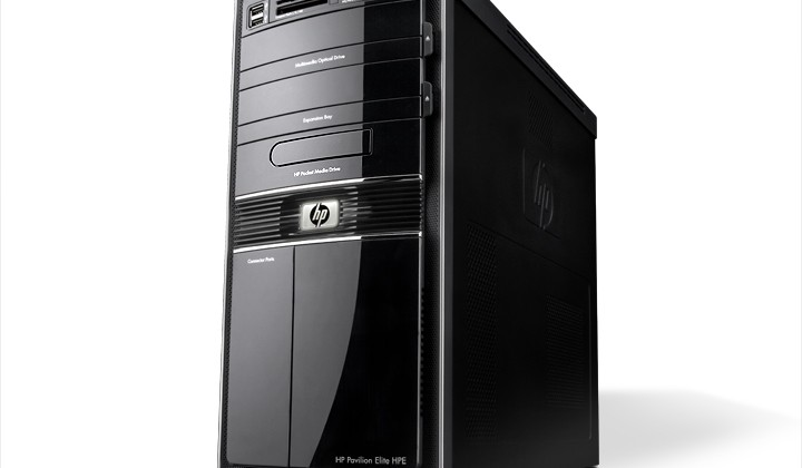 HP Pavilion Elite HPE Desktop PC, with MPMD Bay, dramatic