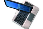 HP TouchSmart tm2, tablet PC, twist top open on white