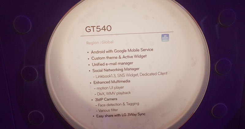 LG GT540 Android phone hands-on