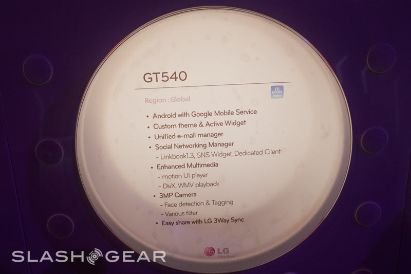 LG GT540 Android phone hands-on - SlashGear