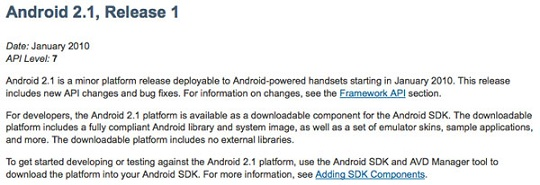 Android 2.1 SDK Released