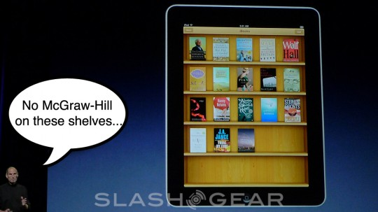 "McGraw-Hill CEO ""mistakenly interpreted"" on iPad; never part of launch keynote"