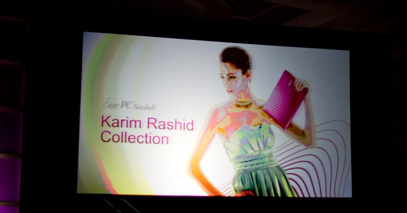 ASUS Eee PC Karim Rashid Collection & U-Series Bamboo notebooks live