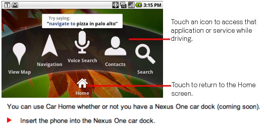 Official Nexus One Accessories incoming: Car Dock and Desktop Dock