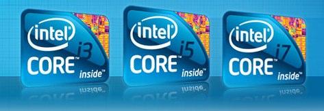 processore i3, processore i5, processore i7