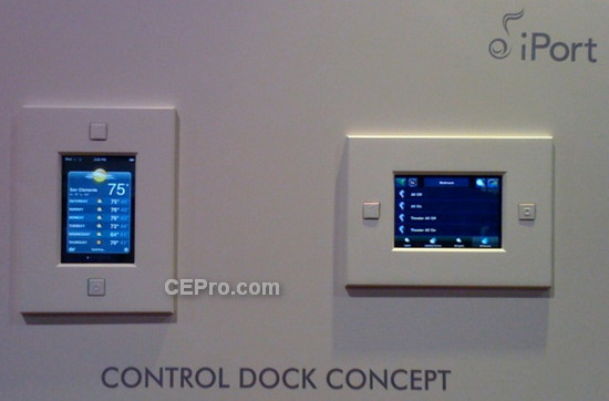 iPort Control Dock uses iPod touch as in-wall controller