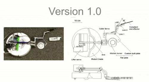 Robotic arm for iRobot Create is cool