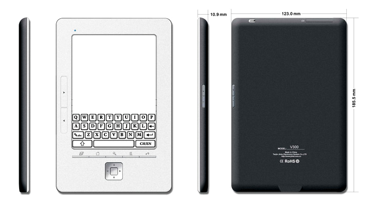 Jinke A6 and A9 ereaders: WiFi, 3G, multitouch & SiPix e-ink
