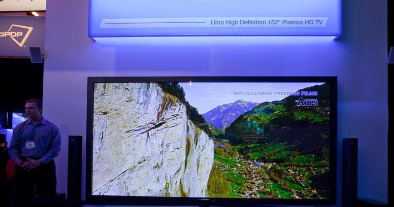 Panasonic 152-inch 4K2K Plasma HDTV