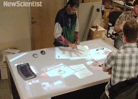 Pictionaire multitouch table blends physical objects with digital work [Video]