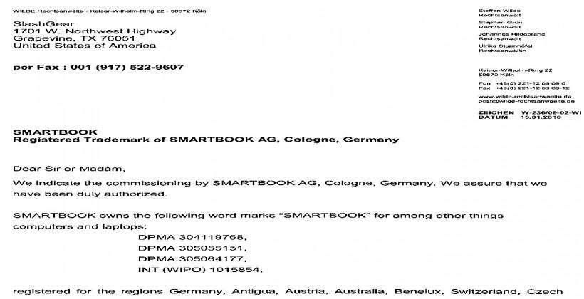 Smartbook trademark oddness rears its head again