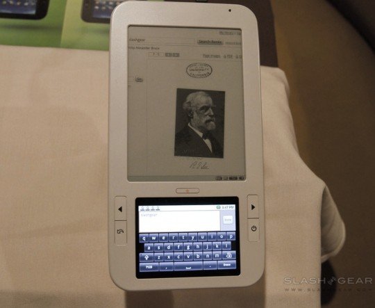 Alex ereader preorders in early March say Spring Design