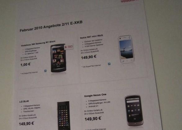 Nexus One Vodafone Germany price leaked?