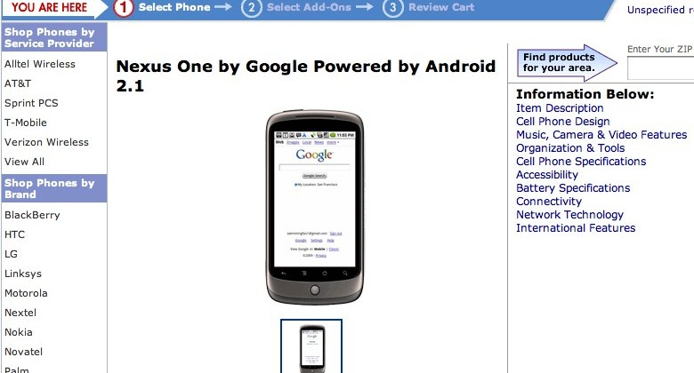 "Nexus One ""coming soon"" to Walmart Wireless"