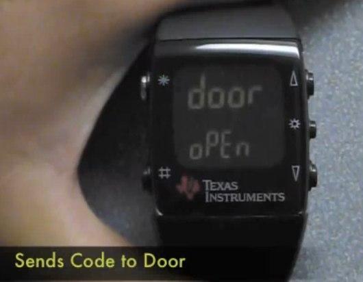 Remote coded door opener uses TI hack-watch [Video]