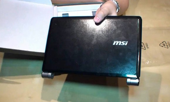 MSI Wind U160 gets video unboxing/hands-on: quality improved