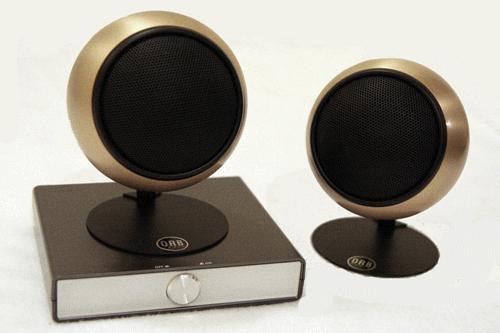 Orb PC audio system pairs tiny speakers & audiophile amp