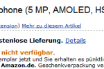 HTC Desire already price-tagged for €419 ($572) at Amazon's Germany site