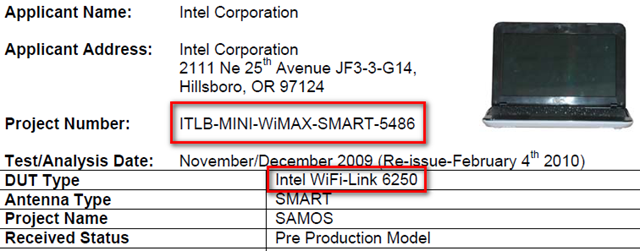 Dell Mini 10 WiMAX model passes FCC