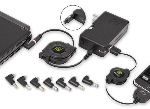 Emerge Technologies unveils ETCHGNETB 40W retractable universal charger for netbooks