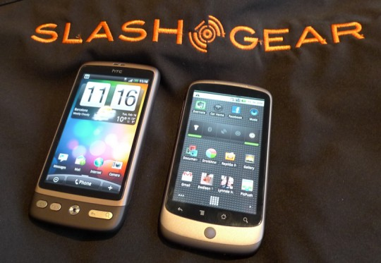 HTC Desire vs. Google Nexus One