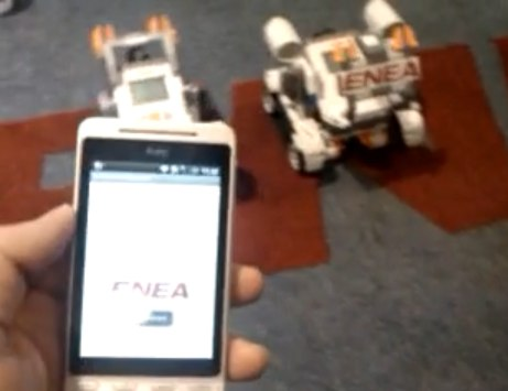 Android LEGO Mindstorms R/C app gets video demo