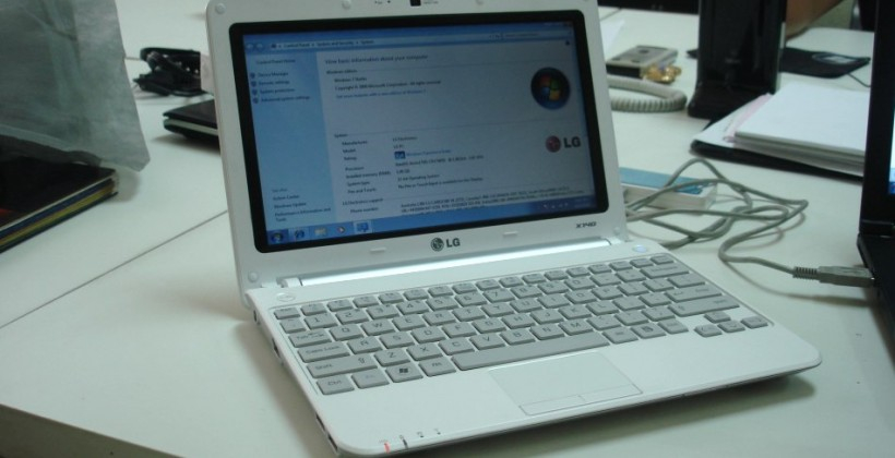 LG X140 Netbook Spotted in the wild