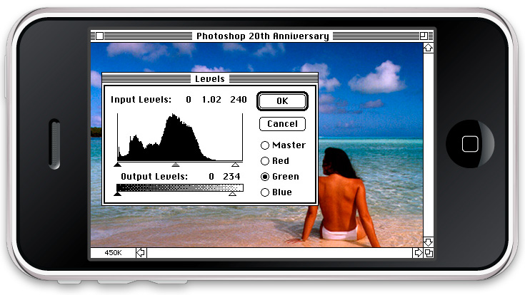 Photoshop 1.0 recreated for iPhone [Video]