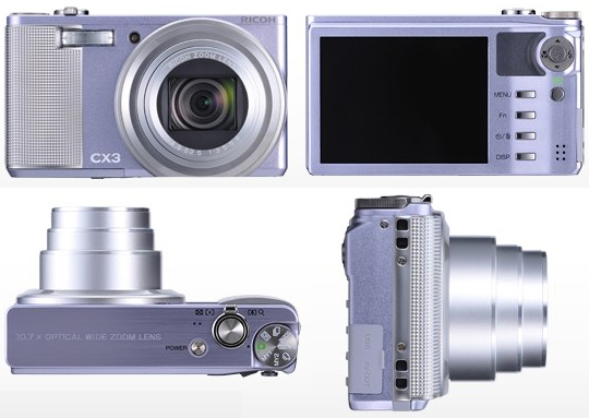 Ricoh CX3 arrives for PMA 2010 with back-illuminated CMOS