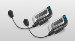 Scala rider G4 intercom for motorcyclists allows four riders to talk
