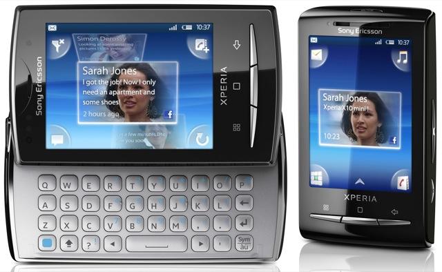 Sony Ericsson XPERIA X10 mini and X10 mini pro shrink Android