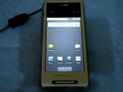 Android 2.0.1 dual-boot XPERIA X1 hack [Video]