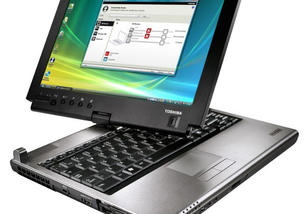 Toshiba Portégé M780 multitouch convertible tablet detailed