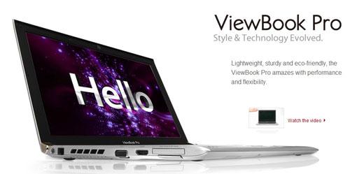 Viewsonic unveils VNB131 ViewBook Pro ULV notebook