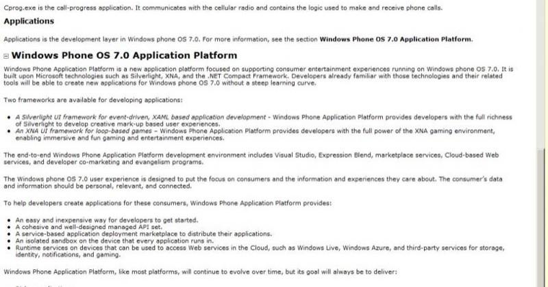Leaked Windows Phone 7 info details developer hoops