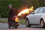 Scooter Gets Flamethrower Attached, We're Glad It's Illegal