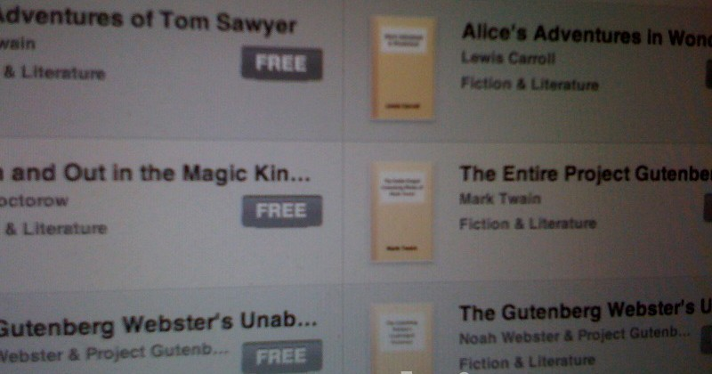 Apple iBookstore Will Include the Gutenberg Project Catalog