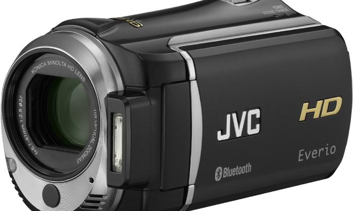 JVC Everio GZ-HM550 Full HD camcorder packs Bluetooth