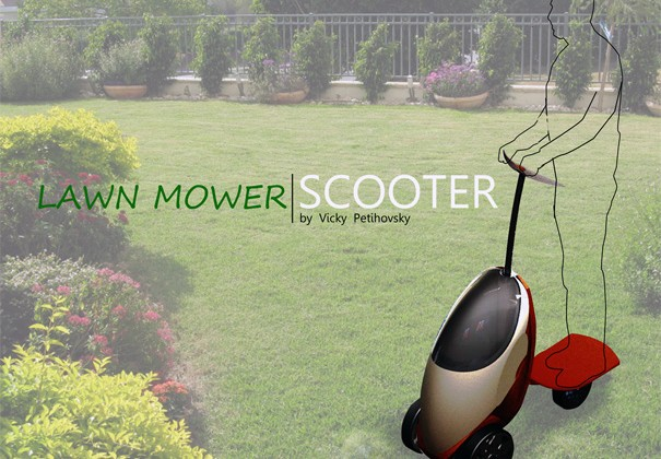 Lawnmower Scooter is Perfect for a Small Yard