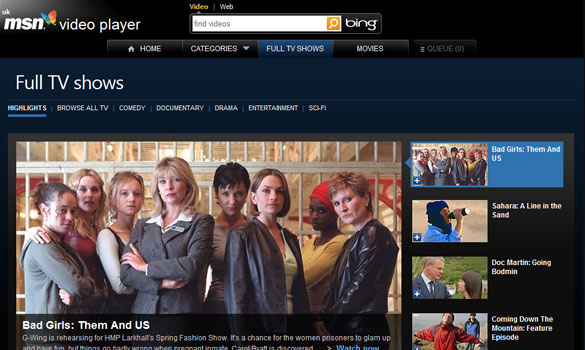MSN Video Player Released to Compete with BBC iPlayer