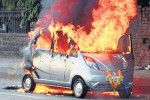Tata Nano Goes Up in Flames With Passenger and Driver Inside